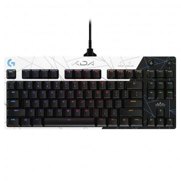 Геймърска механична клавиатура Logitech G Pro K/DA GX Brown Tactile RGB