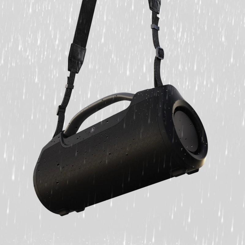 Блутут мобилна колонка HAMA SoundBarrel, 60 W, Водоустойчива, Черен