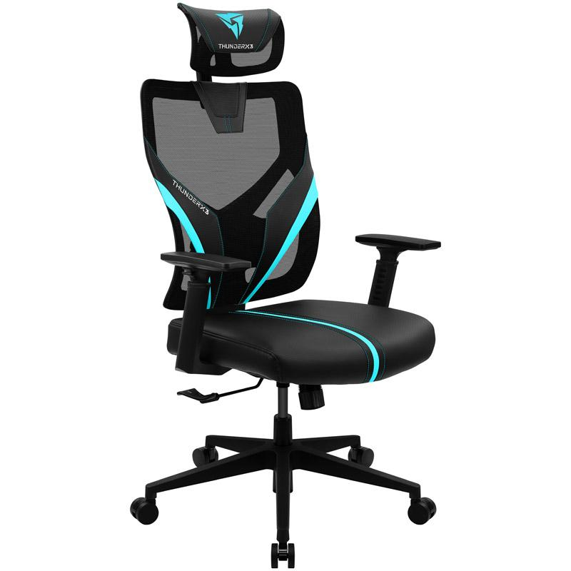 Геймърски стол ThunderX3 YAMA1 Черно/Синьо