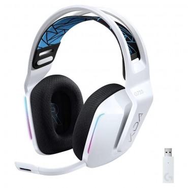 Геймърски слушалки Logitech G733 K/DA Lightspeed Wireless RGB, Микрофон, Бели