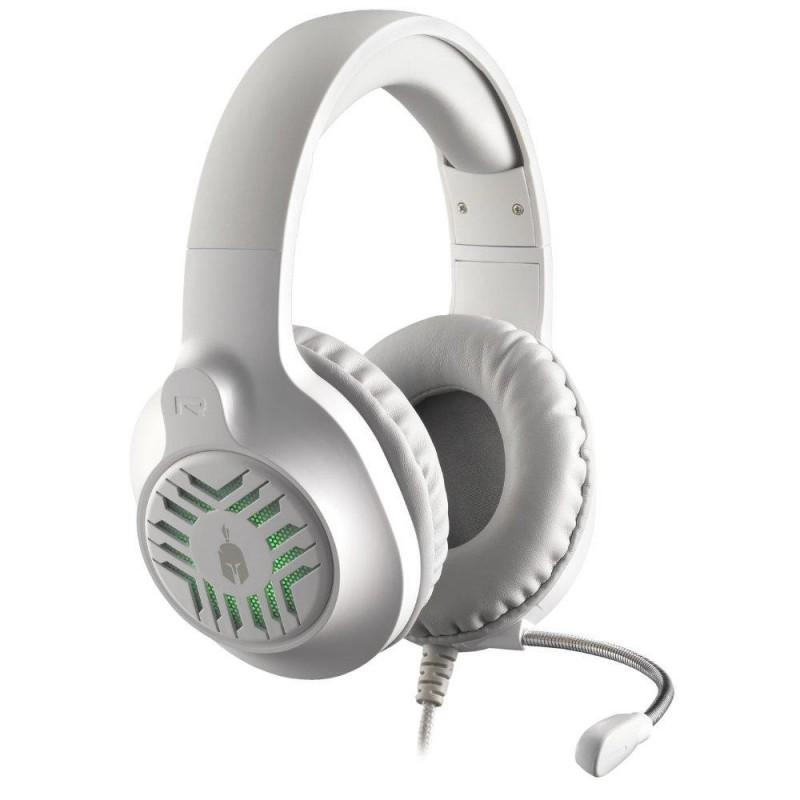 Геймърски слушалки Spartan Gear Medusa, Микрофон, Бял